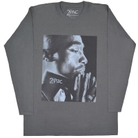 2PAC Tupac Changes Side Photo ロングスリーブ Tシャツ