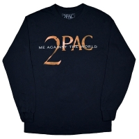 2PAC Tupac Me Against The World Text ロングスリーブ Tシャツ