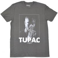 2PAC Tupac Praying Tシャツ GREY