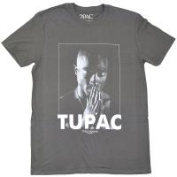 2PAC Tupac Praying Tシャツ GREY