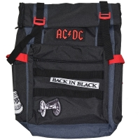 AC/DC Black Roll-Top Backpack リュック