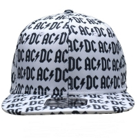 AC/DC Allover Logo スナップバックキャップ