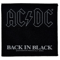 AC/DC Back In Black Patch ワッペン