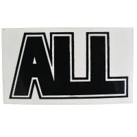 ALL Logo ステッカー BLACK