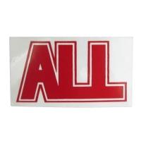 ALL Logo ステッカー RED