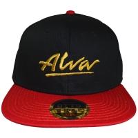 ALVA OG Logo スナップバックキャップ BLACK×RED