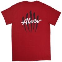 ALVA Scratch Logo Tシャツ RED