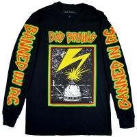 B品 BAD BRAINS Capitol ロングスリーブ Tシャツ BLACK