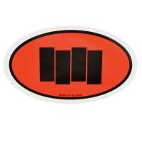 BLACK FLAG Oval Bars ステッカー