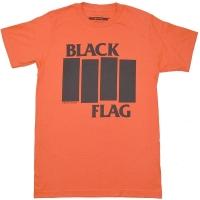 BLACK FLAG Bars & Logo Tシャツ ORANGE