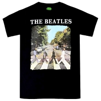 THE BEATLES Abbey Road & Logo Tシャツ BLACK