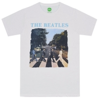 THE BEATLES Abbey Road & Logo Tシャツ WHITE