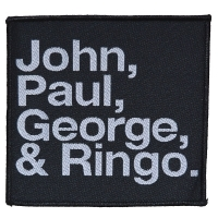 THE BEATLES John, Paul, George & Ringo Patch ワッペン