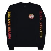 BLACK SABBATH × LAKAI Never Say Die ロングスリーブTシャツ BLACK