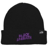 BLACK SABBATH × LAKAI Logo ニット帽 BLACK