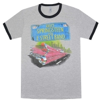 BRUCE SPRINGSTEEN Pink Car Tin He トリム Tシャツ