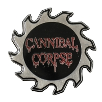 CANNIBAL CORPSE Saw Logo Die Cut ピンバッジ