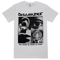 DISCHARGE Hear Nothing White Tシャツ