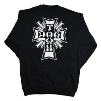 DOGTOWN Cross Logo スウェット トレーナー BLACK