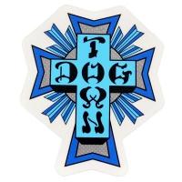 DOGTOWN Cross Logo ステッカー BLUE