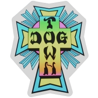 DOGTOWN Cross Logo ステッカー NEON