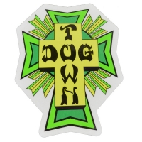 DOGTOWN Cross Logo ステッカー GREEN