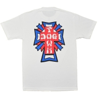 DOGTOWN Cross Logo Color Tシャツ 2 WHITE