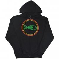 FISHBONE Classic Logo Name ZIP フード パーカー