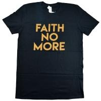 FAITH NO MORE Gold Text Tシャツ