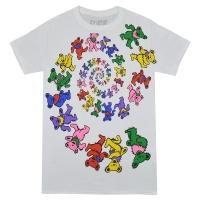 GRATEFUL DEAD Spiral Bears Tシャツ WHITE