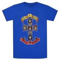 GUNS N' ROSES Cross Tシャツ ROYAL BLUE