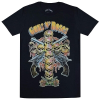 GUNS N' ROSES Skull Cross 80s Tシャツ