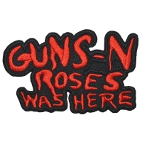 GUNS N' ROSES Cut-Out Was Here Patch ワッペン