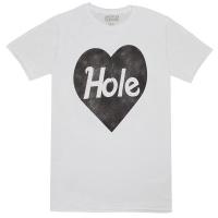HOLE Black Heart Logo Tシャツ