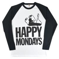 HAPPY MONDAYS Logo ラグラン ロングスリーブ Tシャツ