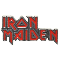 IRON MAIDEN Enamelled Logo ピンバッジ