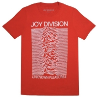 JOY DIVISION Unknown Pleasures Tシャツ RED