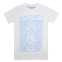 JOY DIVISION Unknown Pleasures Blue On White Tシャツ
