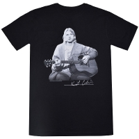 KURT COBAIN Guitar Live Photo Tシャツ