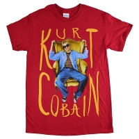 KURT COBAIN Sitting Chair Photo Tシャツ