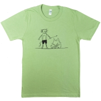 K RECORDS Campfire Cat Tシャツ