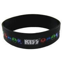 KISS Logo & Icons ラバー リストバンド