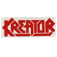 KREATOR Red Logo Window ステッカー
