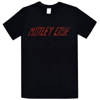 MOTLEY CRUE Distress Logo Tシャツ