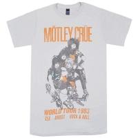 MOTLEY CRUE Vintage World Tour 1983 Tシャツ LIGHT GREY
