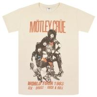 MOTLEY CRUE Vintage World Tour 1983 Tシャツ NATURAL