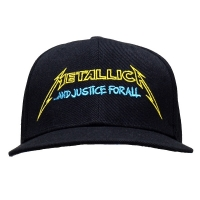 METALLICA Justice Bright Starter スナップバックキャップ