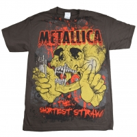 METALLICA The Shortest Straw Tシャツ PUSHEAD