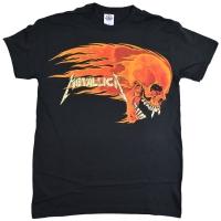 METALLICA Flaming Sun Tシャツ PUSHEAD