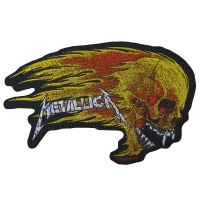 METALLICA Flaming Skull Patch ワッペン